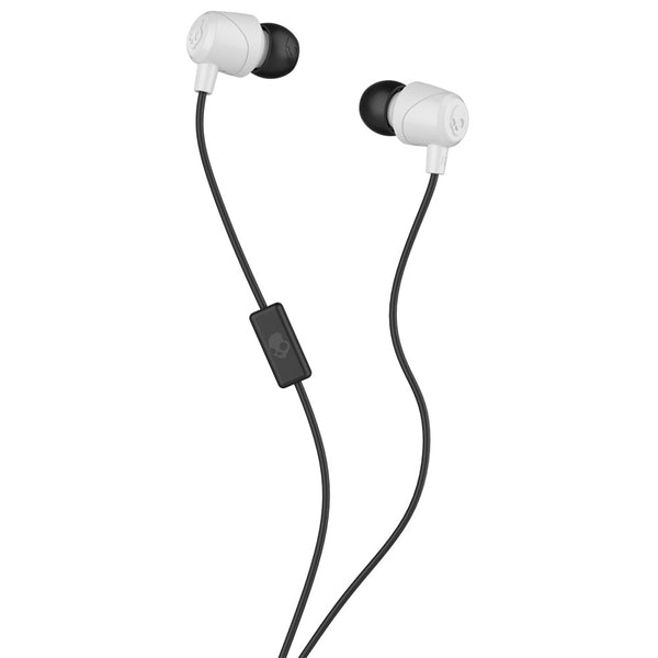 Skullcandy Jib In-Ear Noise-Isolating Earbuds In-Ear Earbud Headphones with In-Line Microphone and Remote for Hands-Free Calls, Lightweight, Stereo Sound & Enhanced Base, White