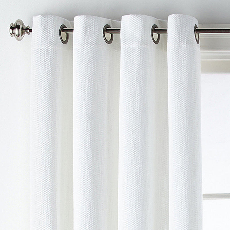 Liz Claiborne Traditional Mirage Rod Pocket Tailored Valance, 100% Polyester Fabric, White
