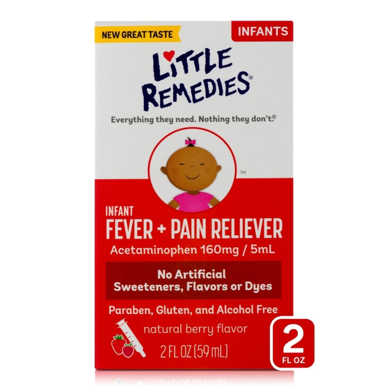 Little Remedies Infant Fever + Pain Reliever, Natural Berry Flavor, 2 Fluid Ounce