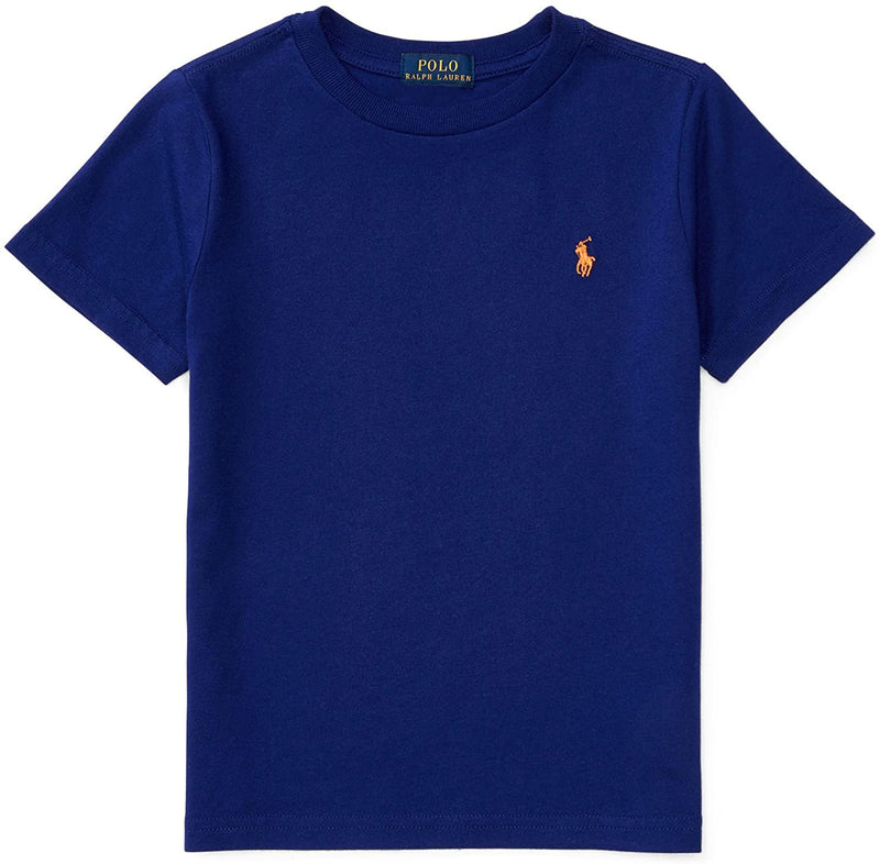 Ralph Lauren Children's Wear Cotton Jersey Crewneck T-Shirt, Size 6, Marine Blue