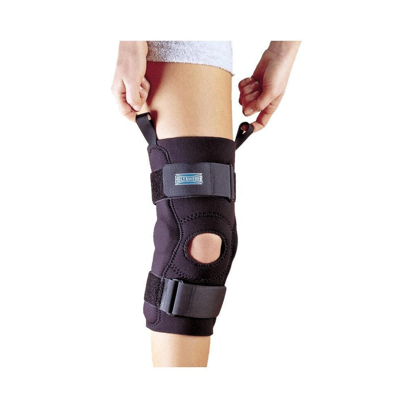 Hely & Weber 3655 Axis Hinged Knee Sleeve, Pull Up Loops Aid In Application, Extra Small: 12 Inches By 13 Inches, Black