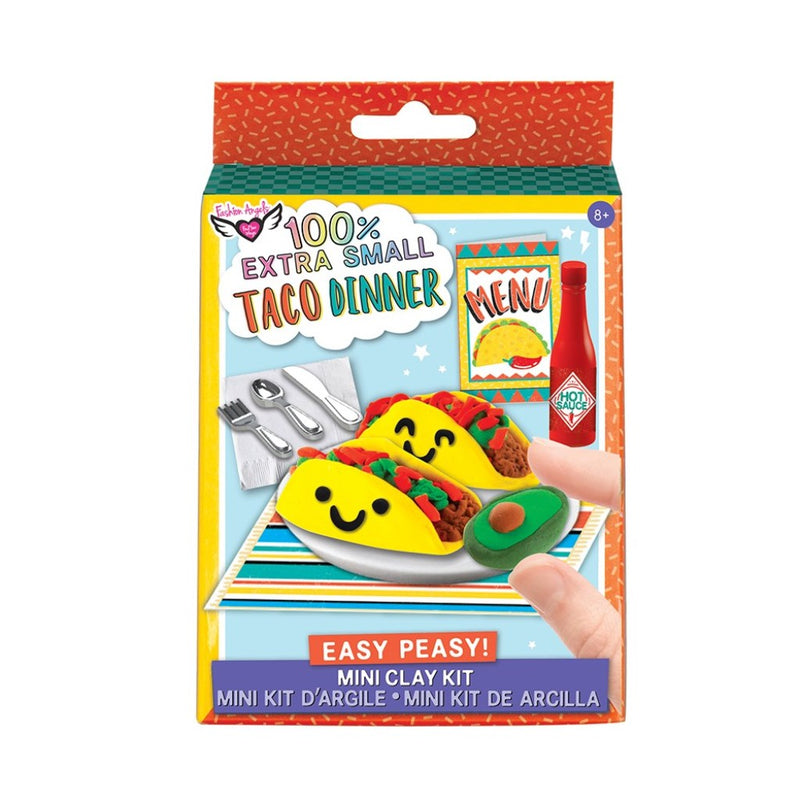 Fashion Angels 100% Extra Small Easy Peasy! Taco Dinner Mini Food Clay Kit, Series 1
