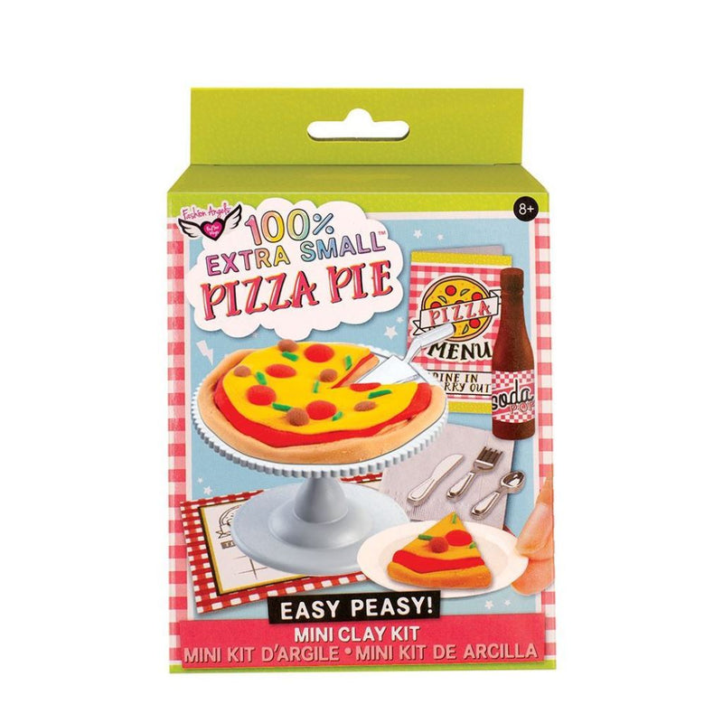 Fashion Angels 100% Extra Small Easy Peasy! Pizza Pie Mini Food Clay Kit, Series 1