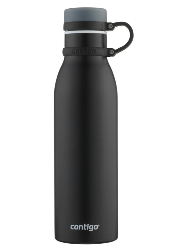 Contigo Thermalock Matterhorn Vacuum Insulated Stainless Steel Water Bottle, 20 Ounce, Matte Black