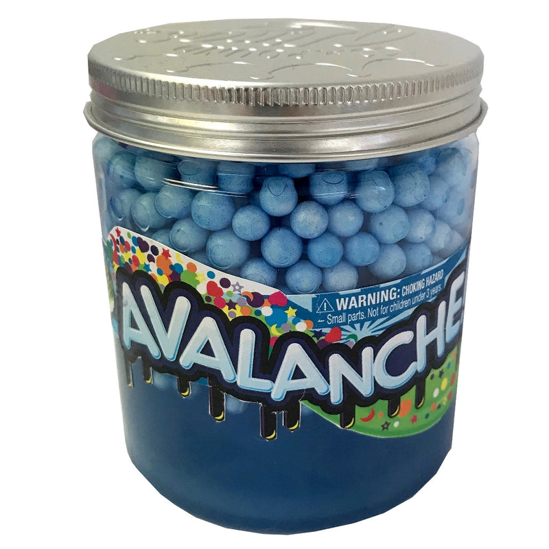 WeCool Toys Inc. 4 Inch Jar Avalanche Glitzy Compound Slime with Foam Beads, Blue