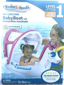 Swimschool Level 1 My Unicorn Baby Boat with Removable Sunshade, For 6-18 Months