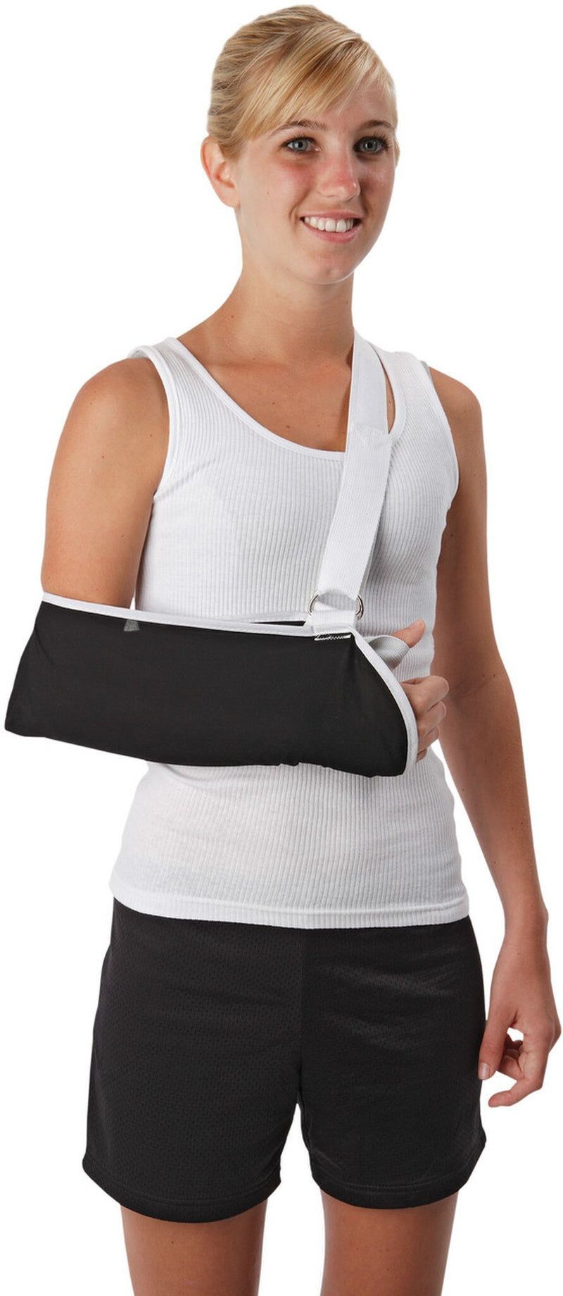 OSSUR Premium Contact Closure Arm Sling with Comfort Pad and Slide Buckle Adjustment, Small