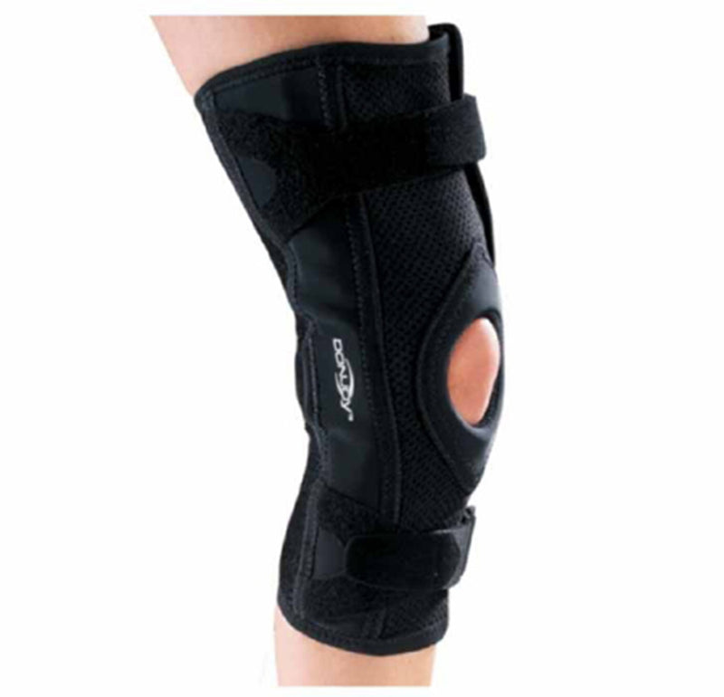 DonJoy Knee Brace OA, 18-1/2 Inches to 21 Inches Circumference, Standard Length, Right Knee, Medium, Black