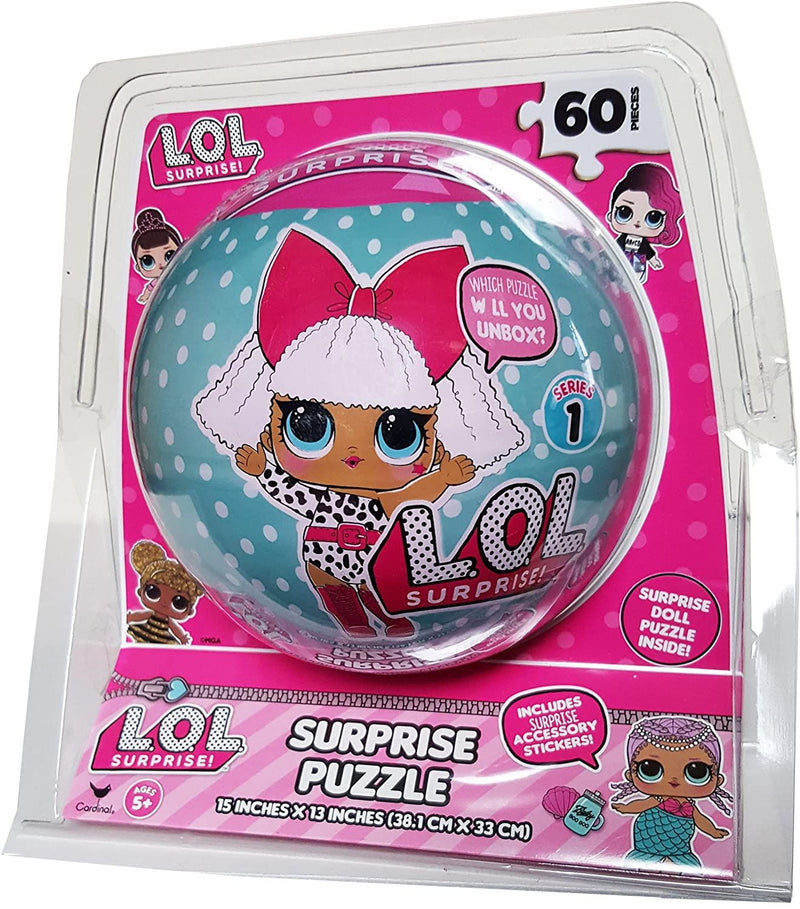 LOL Surprise! Series 1 Authentic MGA Hard To Find Unwrap The Sphere Doll Puzzle, 60 Pieces