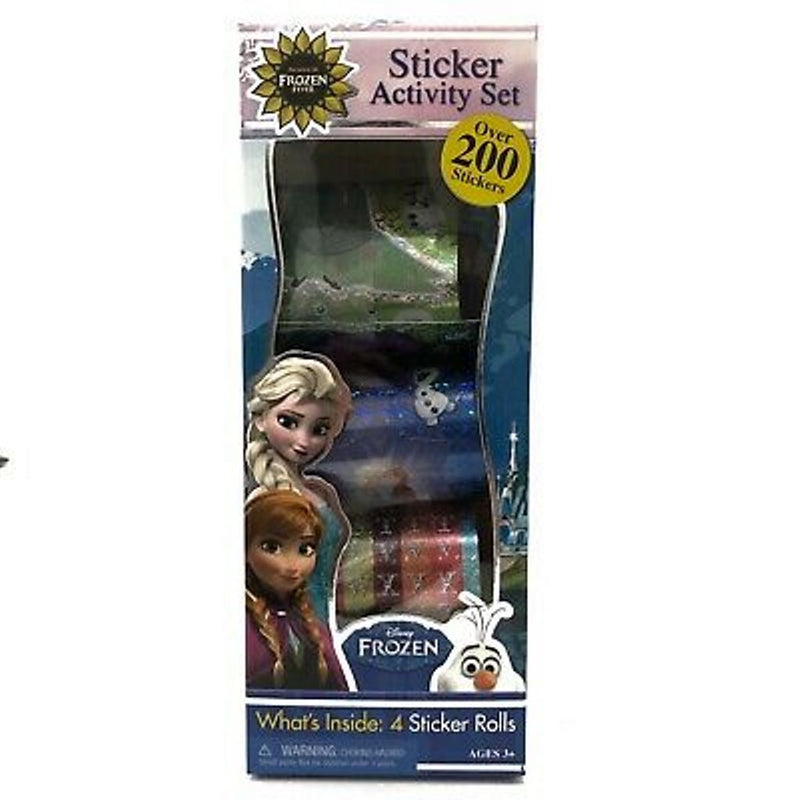 Disney Frozen Tall Activity Sticker Long Box with 4 Sticker Rolls with Over 200 Stickers