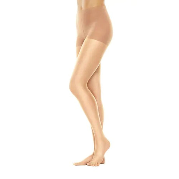 Hanes Perfect Nudes Tummy Control Nylon and Spandex Pantyhose, Medium Size, 10 Denier, Buff