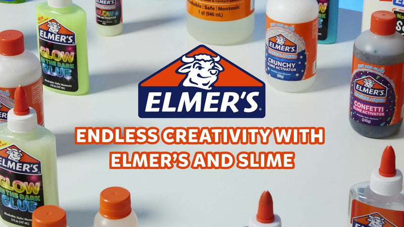 Elmer's Glow in The Dark Liquid Rare Slime Safe and Washable Glitter Glue, 5 Ounce, Blue