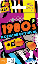 Outset Media 1980's A 12 Years Plus Decade of Trivia Mixed Tapes Party Card Game, Purple