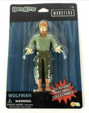 BendEms Wolfman Universal Studios Monsters Soft Rubber Bendable Action Figure, 5.5 Inches