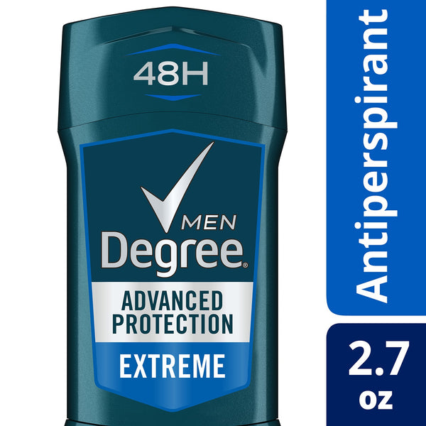 Degree Men Advanced Protection Extreme Antiperspirant Deodorant, Refreshing and a Woodsy Scent, 2.7 Ounces