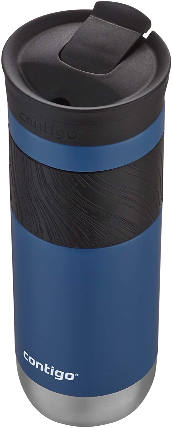 Contigo SnapSeal Insulated Stainless Steel Travel Mug with Grip, Blue Corn, 20 Ounce