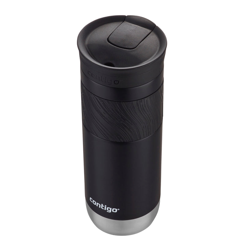 Contigo SnapSeal Byron Insulated Stainless Steel Travel Mug with Grip, 20 Ounce, Licorice