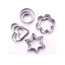 Key Zone Stainless Steel Fondant Cake Paste Mold Decor Tool DIY Use Cookie Biscuit Cutter, 12 Piece
