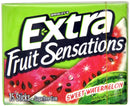 Wrigley's Artificially Flavoured Extra Long Lasting Flavor Sweet Watermelon Sugar Free Gum, 15 Count
