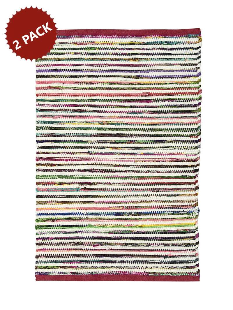 2-PACK Nourison Montclair 24 Inches x 36 Inches Accent Rug, Vibrant and Eye-Catching, Add a Cheerful Touch to the Rest of Your Bath Decor, Multicolor