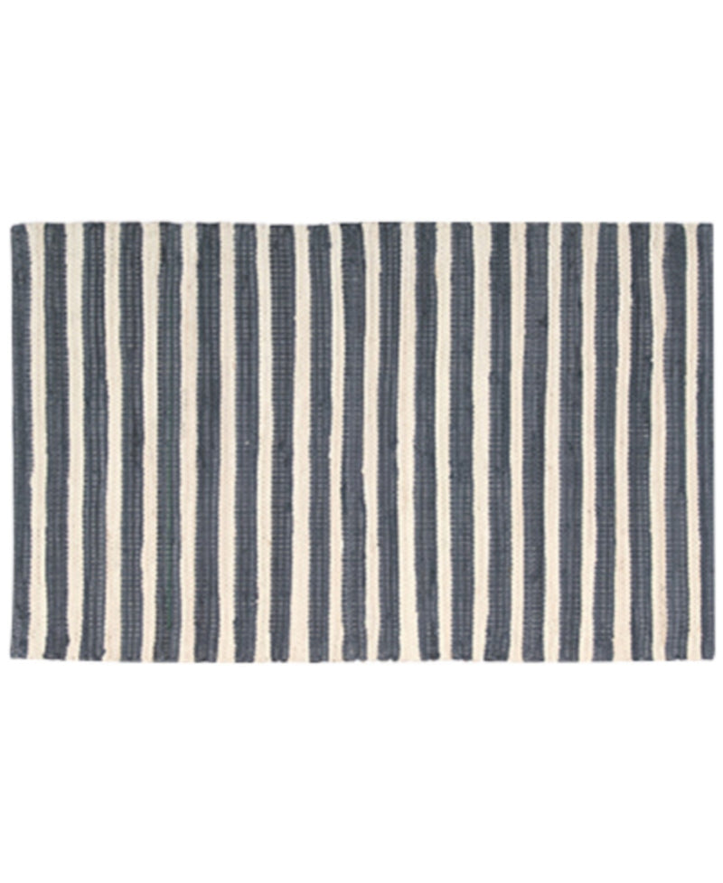 Nourison Brunswick Stripe Accent Rugs, Bring Bold Color and Contemporary Appeal to any Setting with Stylish Stripes and Tones, 24 Inch By 36 Inch, Gray