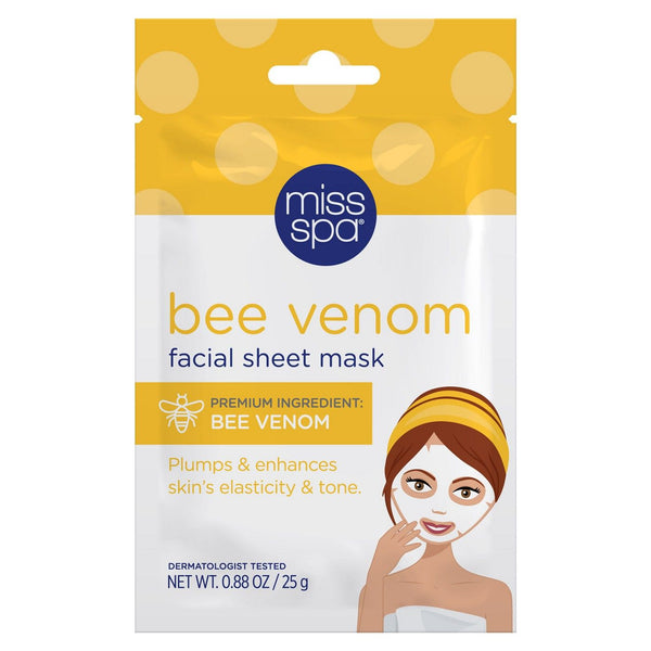 Miss Spa Bee Venom and Royal Jelly Facial Sheet Mask for Firming and Toning, 1 Count
