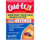 Cold-EEZE Plus Defense Natural Citrus with Elderberry Flavor Lozenges, Contain No Artificial Colors or Preservatives, 12 Count