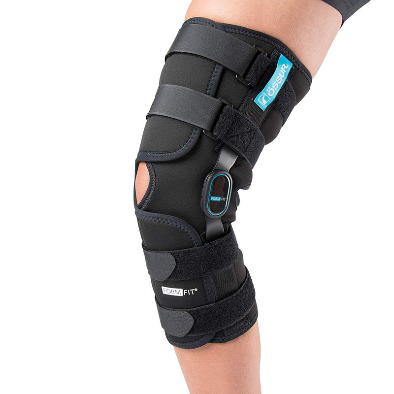 Ossur Formfit ROM Long Knee Wraparound, XXX-Large: 29.5 Inches-32 Inches Circumference, Black