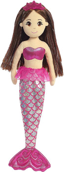 Aurora World 18 Inches Sea Sparkles Mylar Sparkle Plush Shimmer Ruby Mermaid, Multicoloured