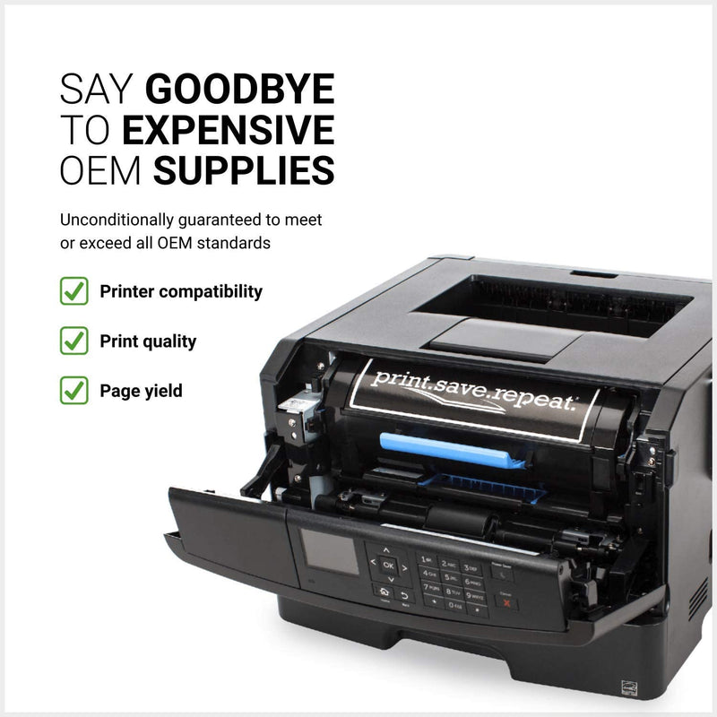 Lexmark 501HE High Yield Toner Cartridge, Print-Save-Repeat, Yield: Up to 5000 Pages, Black