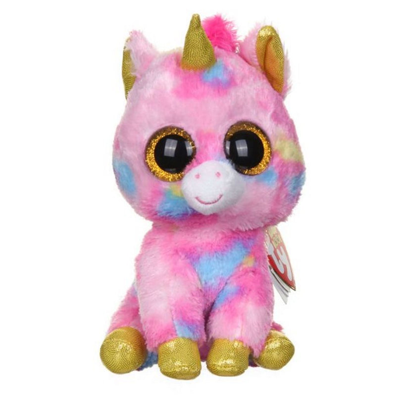 Ty Beanie Boo Fantasia 6 Inch Unicorn Plush with Glitter Eyes, Suitable from 3 Years & Above