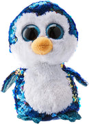 TY Flippables Payton The Sequin Penguin Toy, Irresistible with Reversible Sequins and Large Shiny Eyes, 6 Inch, Blue