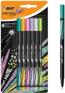 BIC Intensity Two-in-One Fine Point Ballpoint Pen Markers, Offers Ideal Versatility for Art and Writing Projects, Assorted