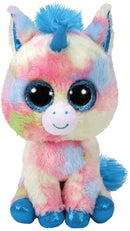Ty Beanie Boos 6 Inches Blitz Glitter Unicorn Plush Super Soft Stuffed Animal, Blue