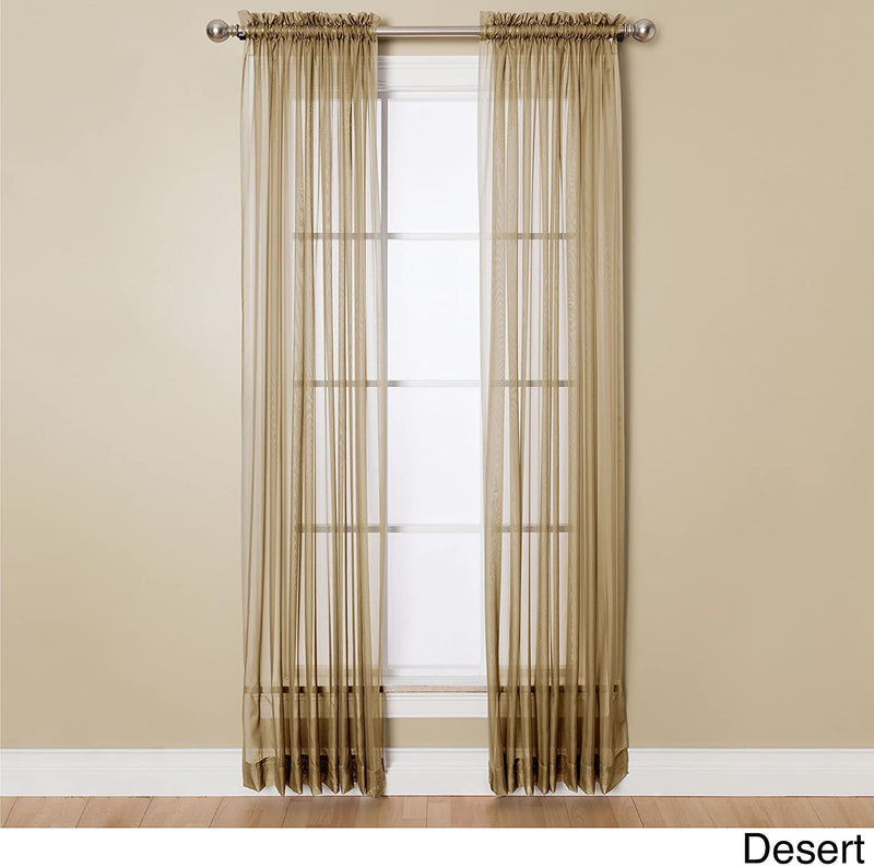 Miller Curtains Single Panel Angelica 84 x 59 Inches Polyester Window Curtain, Desert