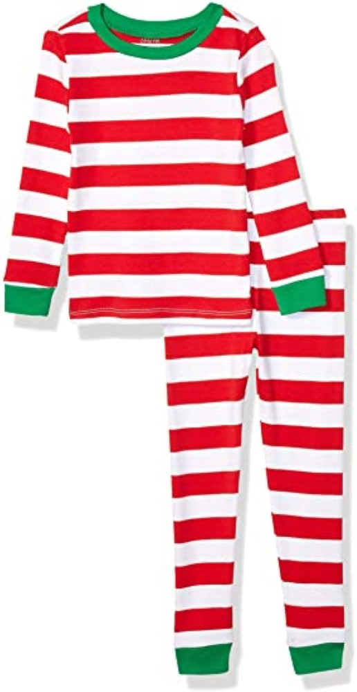 Little Me Kids' 2 Piece Holiday Cotton Pajamas Sleepers, Size: 2 Years, 100% Cotton, Red/White