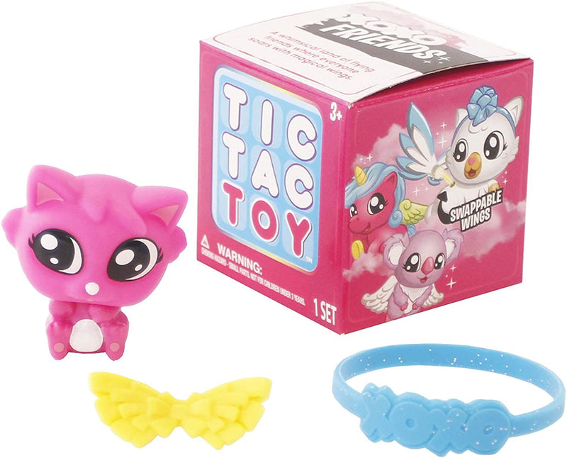 Tic Tac Toy Bracelet! XOXO Friends Single Mini Surprise Box with Colourful Wings