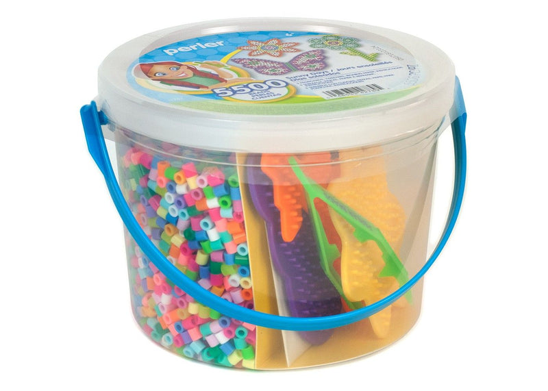 Perler Beads Sunny Days Fused Bead Craft Activity Kit Group Pack Bucket, 5500 Pieces