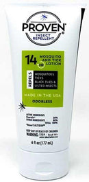 Proven Odorless Insect Repellent Lotion 14 Hours Protection from Mosquitoes/Ticks, 6 Ounce