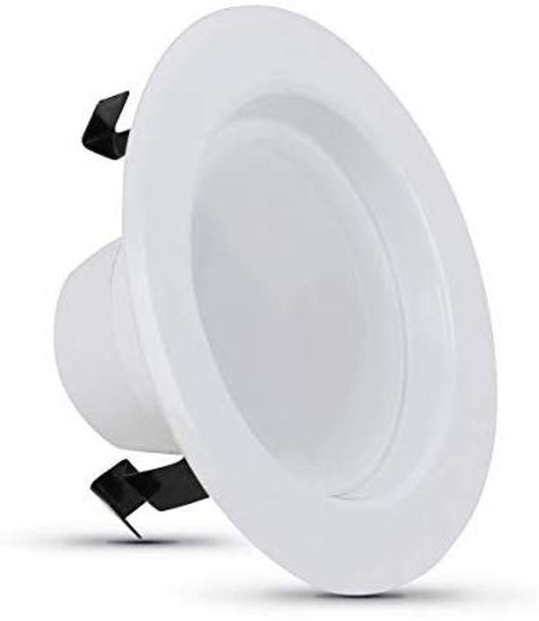 Feit Electric 50-Watt Equivalent Soft White Dimmable CEC White Integrated LED Recessed Retrofit Trim Downlight