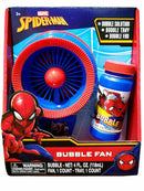Marvel Ultimate Spider-Man Bubble Fan for Kids with 4 Ounce Bottle of Bubbes Solution and Tray