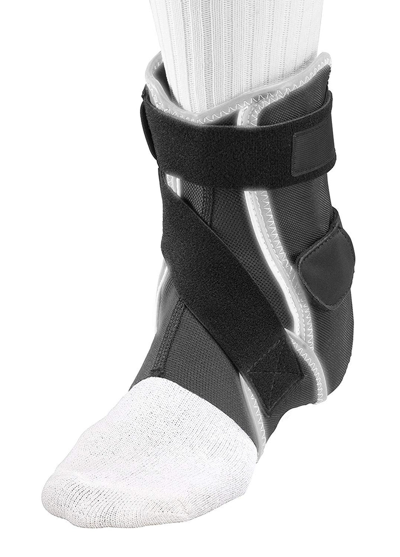 Mueller Hg80 Premium Hard Shell Left Ankle Brace Neoprene-Free, Medium: Men 9 - 11, Women 10 - 12, Black/Gray
