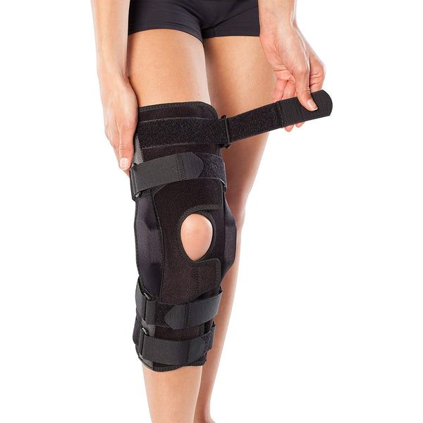 Bioskin Gladiator Knee Brace Sport Ultima, Adjustable Hinged Knee Brace and General Knee Support With A Wrap-Around Design, Small, Black