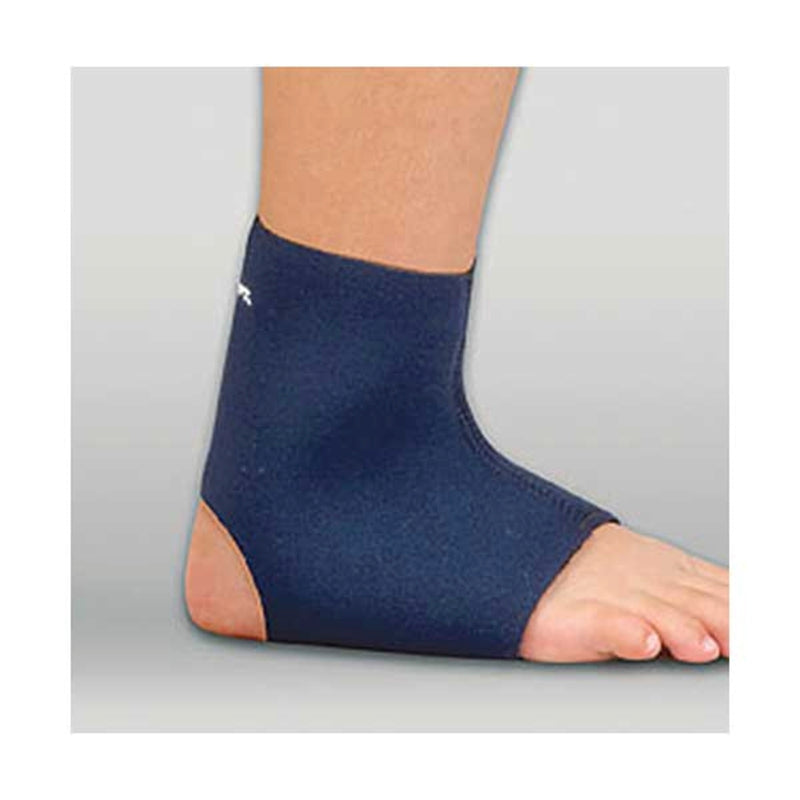FLA Safe T-Sport Pediatric Neoprene Ankle Support for Compression and Therapeutic Warmth, Ped-Large: 6 1/2 Inches - 7 1/4 Inches, Navy