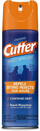 Unscented Cutter Insect Repellent Lasting Protection Mosquitoes Aerosol Spray, 6 Ounce