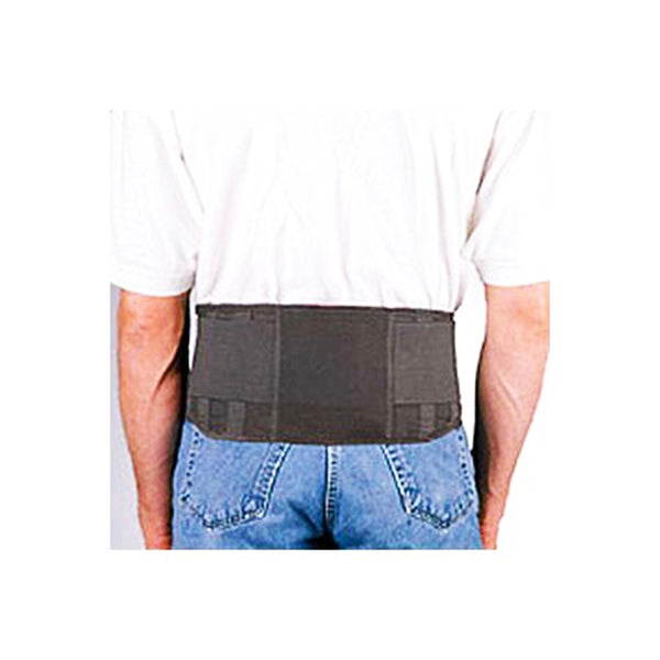 FLA Safe Working Lumbar T-Belt, Provides Support to The Lower Back and Helps Promote Proper Posture and Lifting Techniques, X-Small, Black