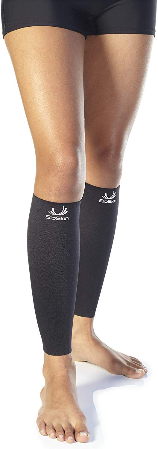 BioSkin Hypoallergenic Breathable High-level Medical Grade Compression XL Calf Sleeves, 1 Pair