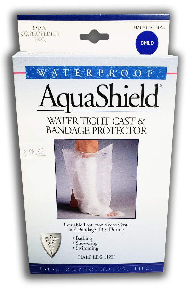 Fla Orthopedics Child Half Leg Clear Waterproof Reusable Cast or Bandage Protector