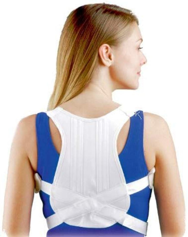 FLA Orthopedics 16-4201LSTD Posture Control Back Brace for Upper Back Pain, Extra Large: 42 Inches - 48 Inches, White