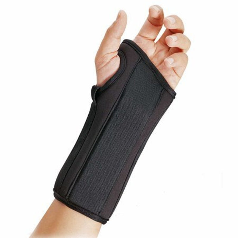 FLA Orthopedics Pro-Lite 8 Inch Wrist Splint Support Brace for Acute and Chronic Pain, X-Small, Left, Black